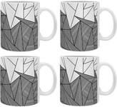 Deny Designs Brandy Rays Ceramic Coffee Mugs (Set of 4)