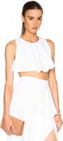 Cushnie et Ochs Stretch Cady Cropped Top