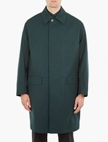 Marni Green Single-Breasted Wool Mac