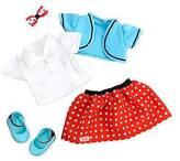 Our Generation Retro Regular Outfit - Polka Dot Skirt