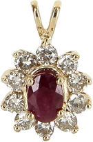 One Kings Lane Vintage Ruby & Diamond Princess Pendant