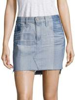 AG Adriano Goldschmied Sandy Colorblock Denim Mini Skirt