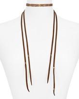"Chan Luu Leather Choker Necklace, 10.8"""