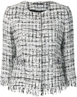 Tagliatore Frayed Edge Tweed Jacket