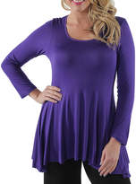 24/7 Comfort Apparel Less Is More Tunic Top-Plus