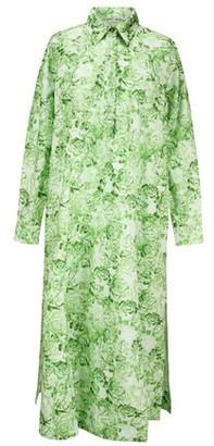 Ganni Printed cotton maxi dress