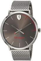 Ferrari Scuderia Men's 'ULTRALEGGERO ULTRA SLIM' Quartz Resin Casual Watch, Color:Grey (Model: 0830406)