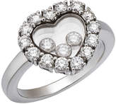 Chopard Happy Hearts 18k White Gold Diamond Ring, Size 5