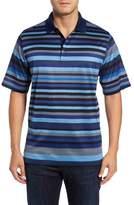 Bugatchi Classic Fit Stripe Jersey Polo