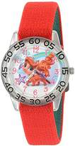 Disney Girl's 'Palace Pet' Quartz Plastic and Nylon Automatic Watch, Color:Red (Model: W002847)