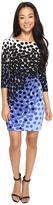 Tahari by Arthur S. Levine Petite Matte Jersey Dot Print Sheath Dress