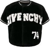 Givenchy cropped logo jacket