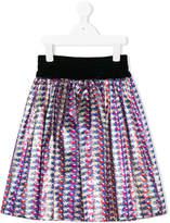 Simonetta floral velvet skirt
