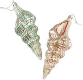 Cody Foster & Co Pastel Conch Shell Ornament Set