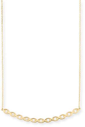 Sydney Evan Diamond Evil Eye Bar Pendant Necklace