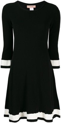 Twin-Set contrasting stripe dress