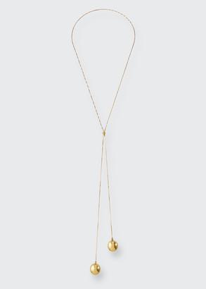 Bottega Veneta 18k Gold Plated Sphere Pendant Necklace