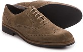 a. testoni Old Suede Calf Wingtip Shoes (For Men)