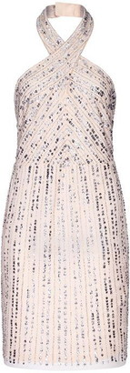 Hailey Logan Embellished Halterneck Dress