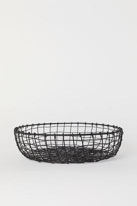 H&M Metal Wire Bread Basket - Black