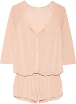 Eberjey Afternoon Delight Pointelle-knit Playsuit - Blush