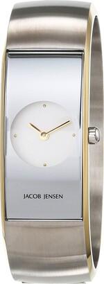 Jacob Jensen Womens Analogue Quartz Watch with Stainless Steel Strap JJ471