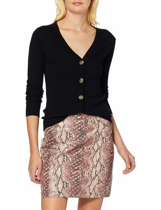 New Look Women's Snake PU Skirt