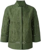 Ermanno Scervino cut-out lightweight jacket - women - Cotton - 40