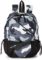 Valentino Garavani Light Grey Camouflage Canvas Backpack