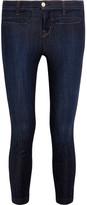 J Brand Skeyla Cropped Mid-rise Skinny Jeans - Dark denim