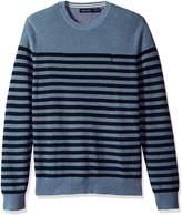 Nautica Men's Long Sleeve Cotton Engineered Stripe Crewneck Sweater