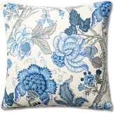 French Laundry Home Floral 20x20 Pillow, Blue