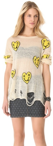 Wildfox Couture Heart Face Sweater