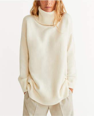 MANGO Oversized Turtleneck Sweater