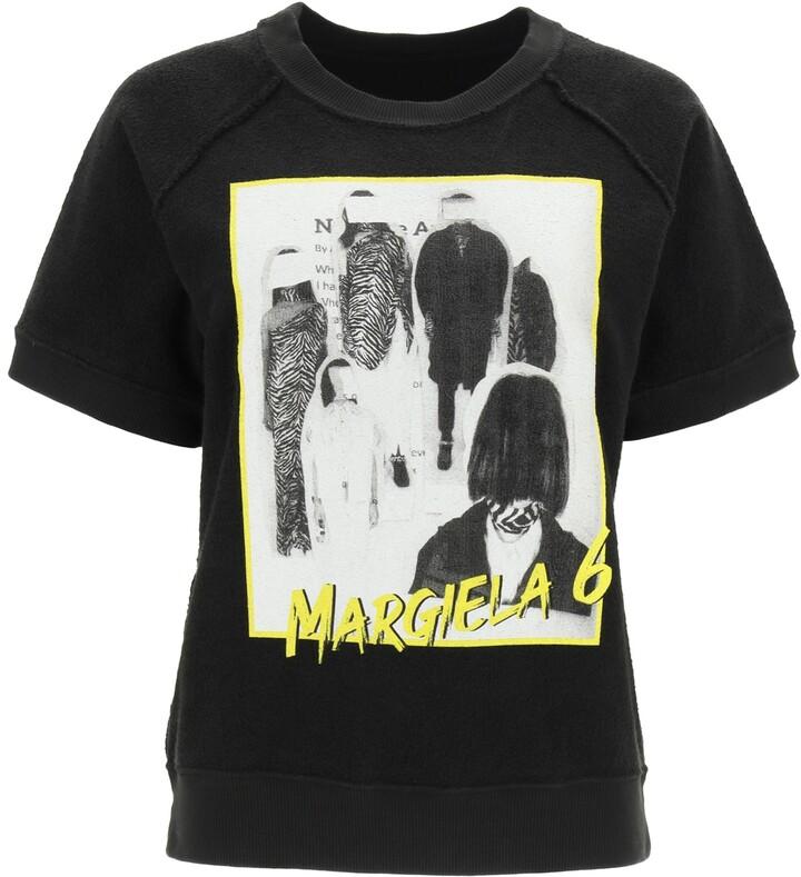 Thumbnail for your product : MM6 MAISON MARGIELA MARGIELA 6 REVERSE SWEATSHIRT M Black, White, Yellow Cotton