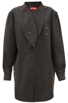 Art School Artist Oversized Cotton Shirt - Black