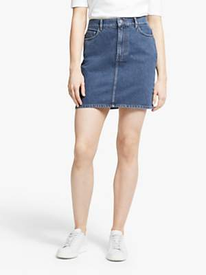 People Tree Catrina Denim Skirt, Stone Bleach Wash