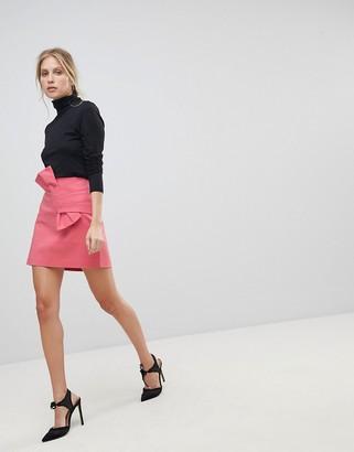 Morgan Mini Skirt With Bow Detail