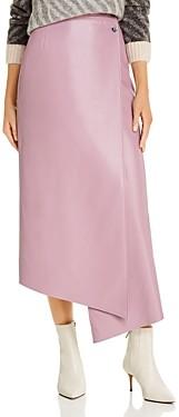 AERON Lucilla Faux-Leather Wrap Skirt