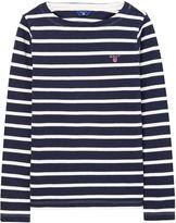 Gant Girls Breton Boatneck T-Shirt 9-12 Yrs