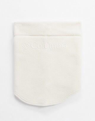 Columbia CSC II Fleece neck gaiter in white