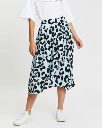 Être Cécile Leopard Amelie Skirt