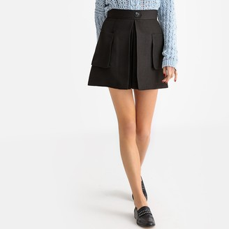 La Redoute Collections Flared Short Skirt