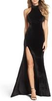 La Femme Women's Cutout Velvet Gown