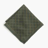 J.Crew English wool-silk pocket square in vine print