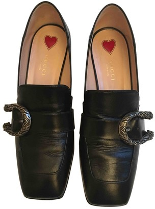 Gucci Dionysus Black Leather Flats