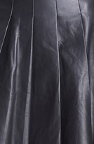 Nordstrom Miss Wu Pleated Leather Skirt Exclusive)