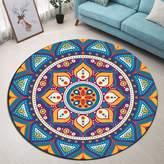 B&L Mandala Ombre Flowers with Petals Theme Round Mat by LB Kids' Play Yoga Soft Non-Slip Floor Rug,Bathroom Living Room Bedroom Doormat,(Diameter:24INCHES)