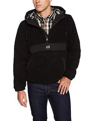 Levi's Men's Sherpa Quarter Zip Popover Hoody Jacket