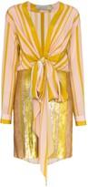 Silvia Tcherassi Getrude sequin stripe mini dress